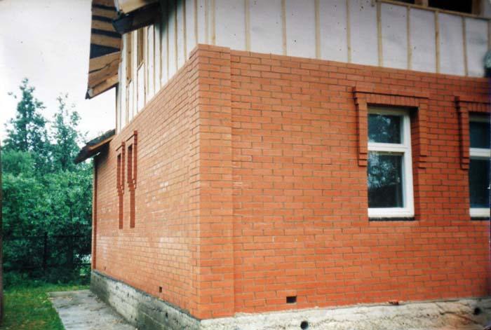 Облицовка кирпичом деревянного дома своими руками 50